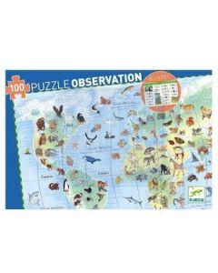 Descobrir os animais do mundo- puzzle