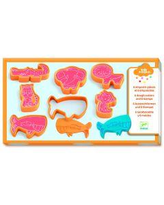 6 moldes de corte - Animais
