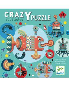 Crazy puzzle Aqua zules 18 peças